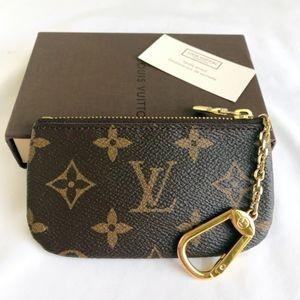 Louis Vuitton Monogram Key Pouch Key Cley M62650
